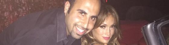 Jon Bakhshi and Jennifer Lopez at Beautique